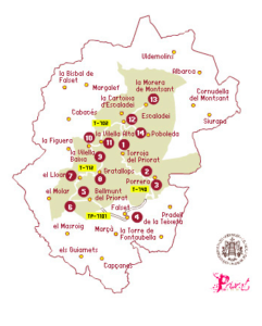 Itinerary for Priorat Spain - Map of Priorat Spain Wine Region | Winetraveler.com