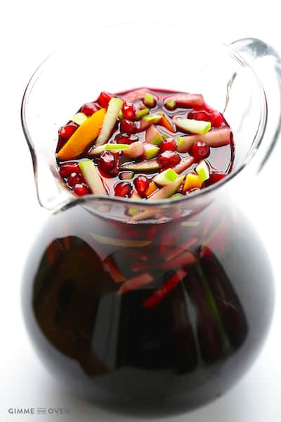 Pomegranate and Green Apple Red Wine Sangria | Ingredients to Make Red Sangria | Winetraveler.com