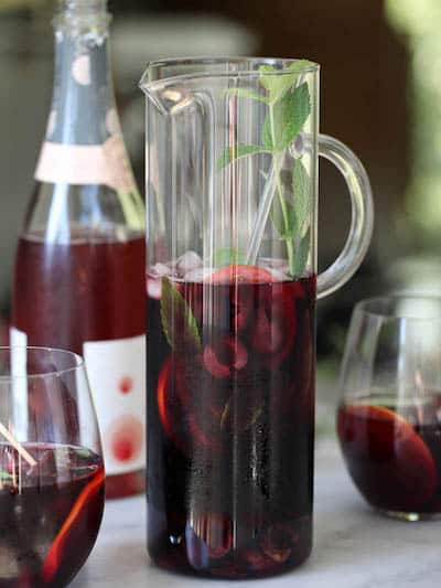Roasted Cherry Red Wine Sangria | Easy Red Wine Sangria Recipes | Winetraveler.com
